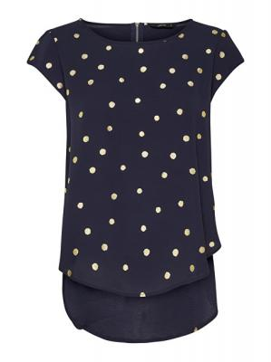 ONLY Dámská halenka Vic SS Aop Top Noos Wvn Night Sky Gold Dots 38