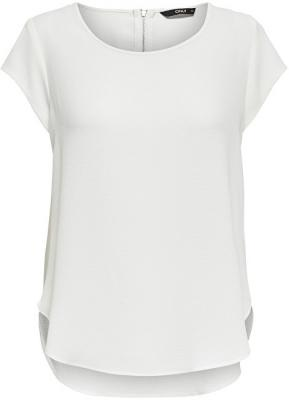 ONLY Dámská halenka Vic S/S Solid Top Noos Wvn Cloud Dancer 36