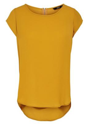 ONLY Dámská halenka Vic S/S Solid Top Noos Wvn Golden Yellow 34