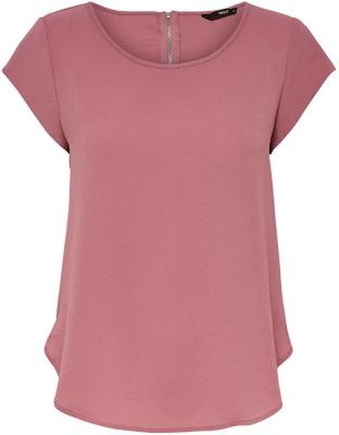 ONLY Dámská halenka Vic S/S Solid Top Noos Wvn Mesa Rose 34