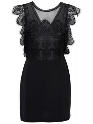 ONLY Dámské šaty Seville Sl Lace Blocking Dress Wvn Black 38
