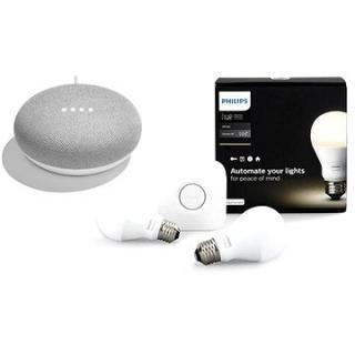 Philips Hue White 8.5W E27 starter kit   Google Home Mini Chalk