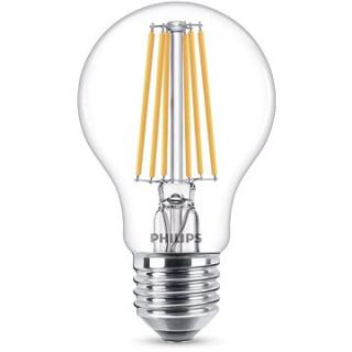 Philips LED Classic Filament 8-75W, E27, čirá, 4000K