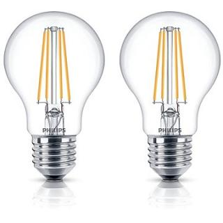 Philips LED Classic Filament Retro 6-60W, E27, 2700K, čirá, set 2ks (929001387371)