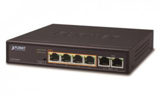 Planet FSD-604HP, PoE switch 4x PoE 802.3at 60W  2x 100Base-TX,VLAN,extend mód 10Mb/s do 250m, fanless,ESD, FSD-604HP