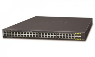 PLANET GS-4210-48T4S switch L2/L4, 48x 1000Base-T, 4x SFP, Web/SNMPv3, VLAN, QoS, IPv6, fanless