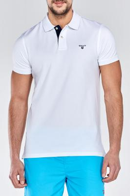 Polokošile CONTRAST COLLAR PIQUE SHORT SLEEVED RUGGER