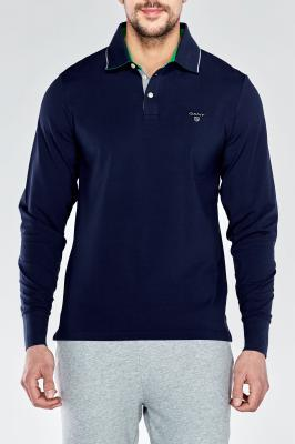 Polokošile TRICOLOR CONTAST LONG SLEEVED RUGGER