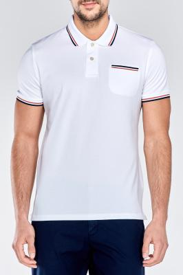 Polokošile TRICOLOR TIPPING PIQUE SHORT SLEEVED RUGGER