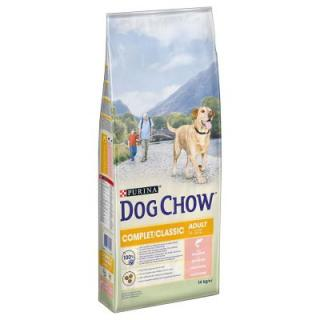 Purina Dog Chow Complet/Classic s lososem - 2 x 14 kg