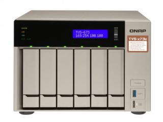 QNAP TVS-673e-8G Turbo NAS server, AMD RX-421BD QC 2.1 GHz/8GB/RAID 0,1,5,6,10/4xGL/6x 2.5/3.5