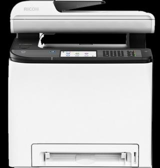 RICOH SP C262SFNw 20 PPM, Color MFC with print, copy, scan, fax, touchscreen display, 256 MB, LAN, Wi-Fi, 408143