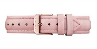 Rosefield Pink Leather Bowery strap Rose gold