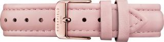 Rosefield Tribeca Stitched pink strap rosegold