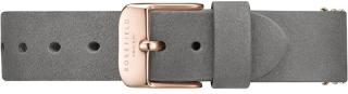Rosefield West Village Elephant Grey Rosegold Strap
