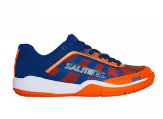 Salming Falco Kid Flame Velcro 13,5 UK / Blue/Orange