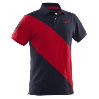 Salming Ivy Polo Men L / Navy/Red
