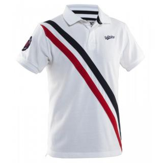 Salming Ivy Polo Men L / White/Red/Black