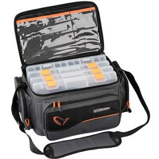 Savage Gear Taška System Box Bag XL 3 Boxes   Waterproof Cover (5706301547781)