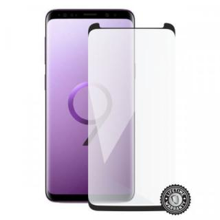 Screenshield SAMSUNG G960 Galaxy S9 Tempered Glass Protection (black - CASE FRIENDLY)