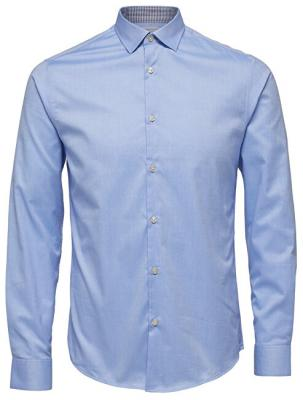 SELECTED HOMME Pánská košile SlimNew-Mark Shirt Ls B Noos Light Blue M