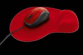 set TRUST Primo Mouse with mouse pad - red, 20427