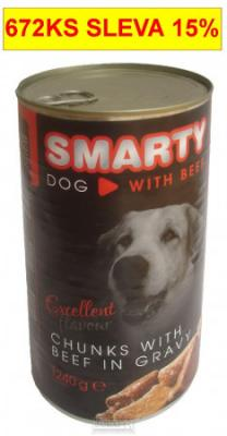 SMARTY chunks DOG 1240g BEEF-hovězí-7750