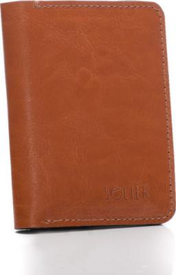 SOLIER Slim leather mens wallet (SW15A LIGHT BROWN) velikost: univerzální
