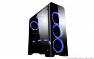 SPIRE skříň FLASH 7010, USB 3.0, Midi Tower, gaming, bez zdroje, Black, X2-TE7010G/W-U3