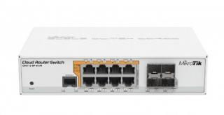 Switch Mikrotik CRS112-8P-4S-IN with QCA8511 128MB, 8xGLAN w PoE-out, 4xSFP, ROS L5, desktop case, PSU, CRS112-8P-4S-IN