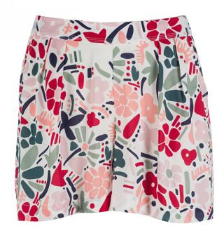 Tommy Hilfiger Dámské kraťasy Woven Short Abstract Flower Print UW0UW00682-614 L