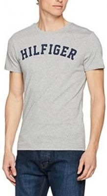 Tommy Hilfiger Pánské triko Cotton Icon SS Tee Logo UM0UM00054-004 Grey  Heather L 690cb8a7325