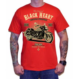 Triko BLACK HEART Harley Red červená - M