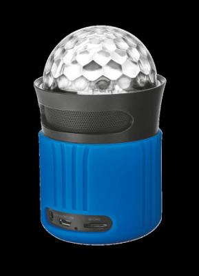 TRUST DIXXO GO WIRELESS BLUETOOTH SPEAKER WITH PARTY LIGHTS - BLUE, 21347