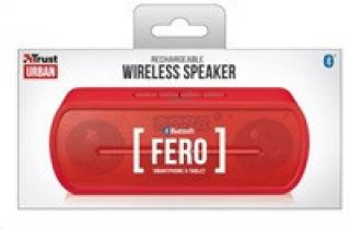TRUST reproduktory FERO Wireless Bluetooth Speaker, red