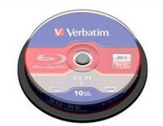 VERBATIM BD-RE SL(10-pack)Blu-Ray/spindle/2x/25GB, 43694