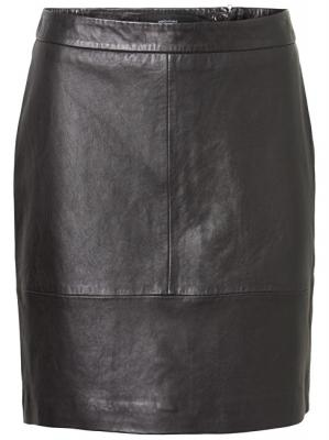 Vero Moda Dámská sukně Amber Hw Short Leather Skirt Black M