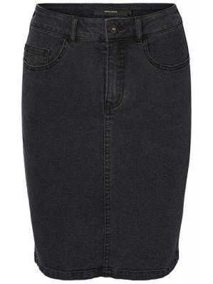 Vero Moda Dámská sukně Hot Nine Hw Dnm Pencil Skirt Mix Dark Grey Washed S