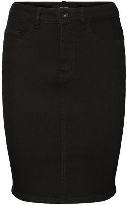 Vero Moda Dámská sukně Hot Nine Hw Dnm Pencil Skirt Mix Noos Black S
