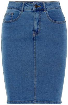 Vero Moda Dámská sukně Hot Nine Hw Dnm Pencil Skirt Mix Noos Medium Blue Denim XS