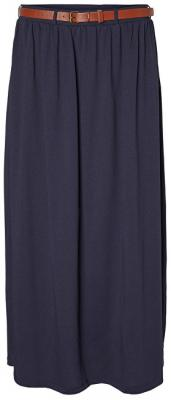 Vero Moda Dámská sukně Rebecca Ancle Skirt Ga Jrs Night Sky XL