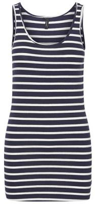 Vero Moda Dámské tílko Maxi My Soft Long T/T Stripe Ga Night Sky/Snow White S
