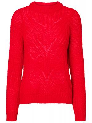 Vero Moda Dámský svetr Wishi Light Ls O-neck Blouse Chinese Red L