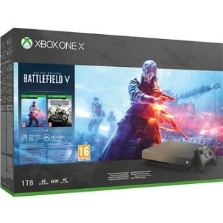Xbox One X Battlefield V Gold Rush Special Edition