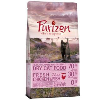 Zkušební set Kitten: Purizon 400 g & Cosma Nature 6 x 70 g - set 2: s kuřetem a tuňákem